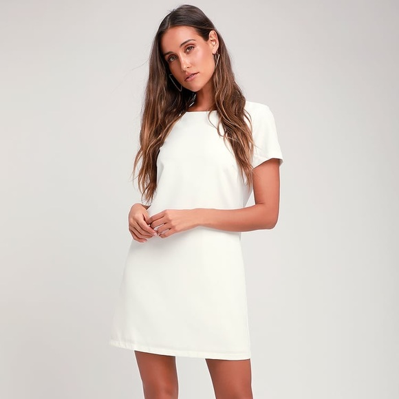 9a232097e287 Lulu's Dresses | Lulus Shift And Shout Ivory Shift Dress | Poshmark